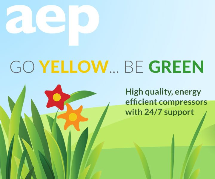 Go yellow be green with AEP's range of HPC compressors
